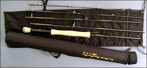 A fly fishing rod. Travel fly fishing rods are great and not too expensive