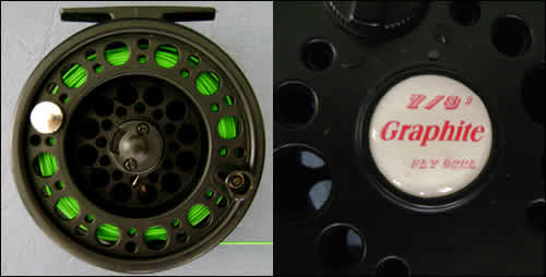 Graphite fly fishing reel should be bought cheaply from a fly fishing tackle shop when you are a begginer at fly angling