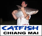 Mega Fishing Thailand guided fishing trips in Chiang mai for Giant Mekong catfish fishing package title image graphic